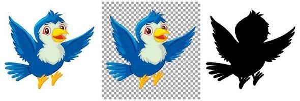 conjunto de personajes de aves vector
