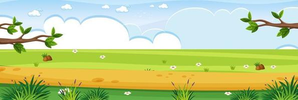 naturaleza simple paisaje al aire libre vector