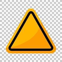 Empty yellow traffic sign vector