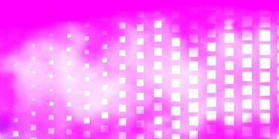 Telón de fondo de vector rosa claro con rectángulos.
