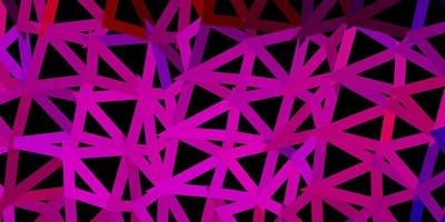 diseño de mosaico de triángulo vector azul oscuro, rojo.