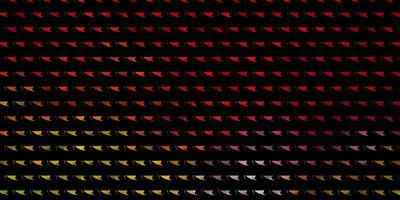 diseño de vector multicolor claro con líneas, triángulos.