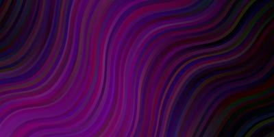 Dark Pink vector pattern with curves.