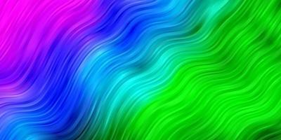 diseño de vector rosa claro, verde con curvas.