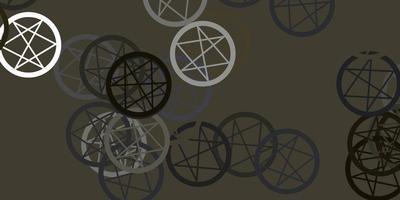 Plantilla de vector gris claro con signos esotéricos.