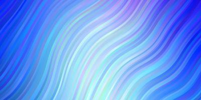 patrón de vector rosa claro, azul con líneas torcidas.