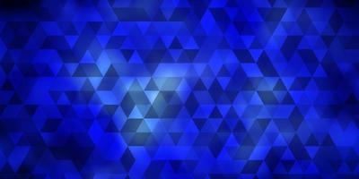 Dark BLUE vector backdrop with lines, triangles.