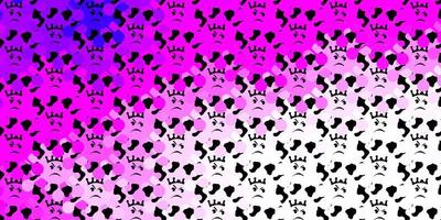 plantilla de vector de color rosa oscuro con signos de gripe.