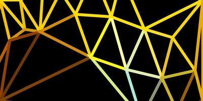 Fondo de pantalla de polígono degradado de vector azul claro, amarillo.
