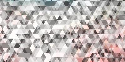 Light Pink, Green vector background with lines, triangles.