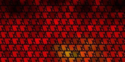 Dark Red, Yellow vector layout with lines, triangles.