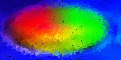 patrón poligonal de vector multicolor claro.