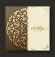 diseño de menú de textura de patrón dorado premium vector