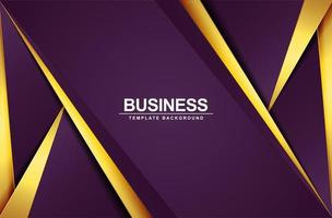 Luxury abstract shape background with purple and gold vector
