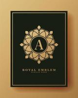 Ornamental luxury letter a logo vector