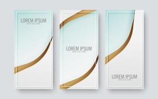 conjunto de banner vertical ondulado abstracto