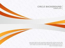 Abstract orange wave background template vector