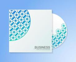 Gradient cd cover with floral pattern texture vector