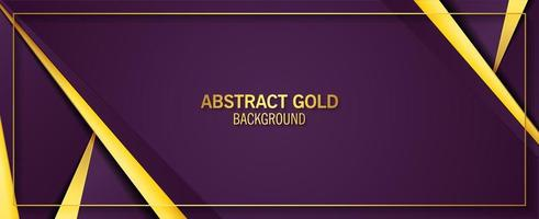 Elegant purple banner with line shape style vector