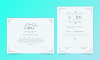 Classic certificate award template set vector