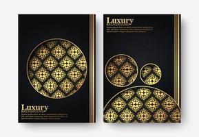 cubierta oscura de lujo en estilo de textura vector