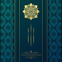 Luxury mandala background concept vector