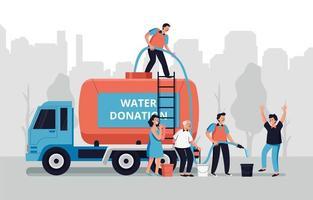 organización de donación de agua vector