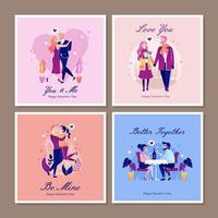 tarjeta de felicitación romántica de san valentín