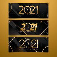 banner de cuenta regresiva de año nuevo vector