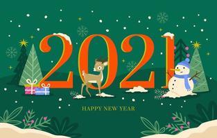 Winter New Year 2021