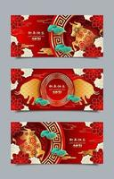 Happy Chinese New Year 2021 Ox Banner Templates