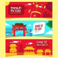 Lunar Chinese Gong Xi Fa Cai Concept Banner