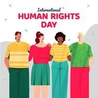 International Human Rights with Group of Diverse Young People