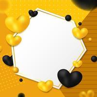 Golden Heart Background vector