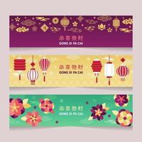 Modern Minimalist Gong Xi Fa Cai Banner vector