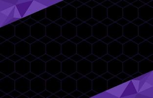 Black Background With Triangular And Purple Color Accent vector