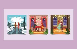 Romantic Concept Of Couples In The Valentine's Days vector