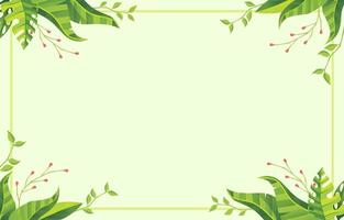 Floral Background With Green Lime Vibe vector