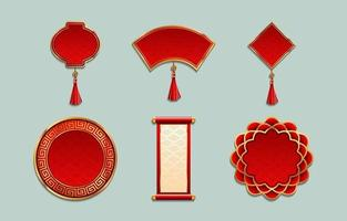 Chinese New Year Ornament Label Templates