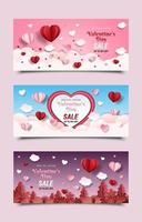 Valentine's Day Marketing Promotion Banners vector