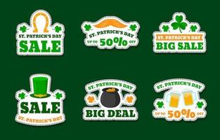 Cute St. Patrick's Day Marketing Sticker Collection vector