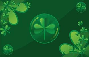 Clover Illustration With Green Accent