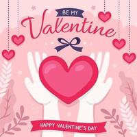 Be My Valentine Love Card vector