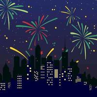 Sapphire Blue City Firework Festive vector