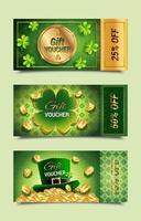 Saint Patrick's Gift Voucher Templates vector