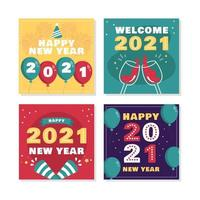 2021 New Year Celebration Vibe vector