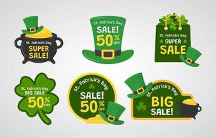 St. Patrick's Day Label vector