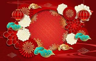 Chinese New Year Festivity Background Concept
