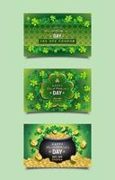Happy Saint Patrick's Day Coupon Templates vector