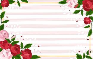Red and Pink Rose Background vector